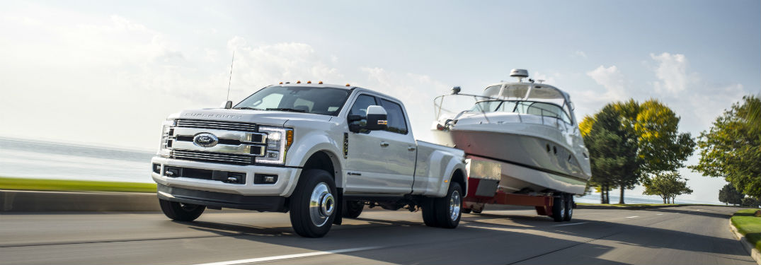 Ford Truck Towing Boat
